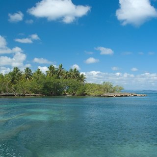 Beautiful sky above green idyllic island