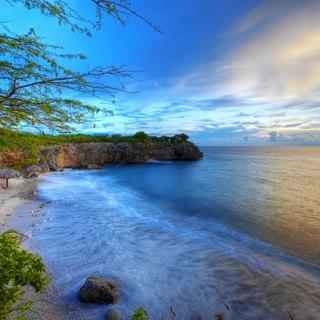 Amazing landscape of coast of Curacao