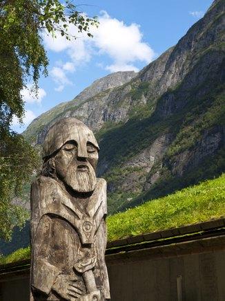 Wooden Viking Statue