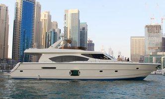 Duretti 85 yacht charter Dubai Marine Motor Yacht