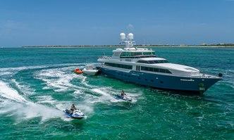 Kashmir yacht charter Broward Motor Yacht