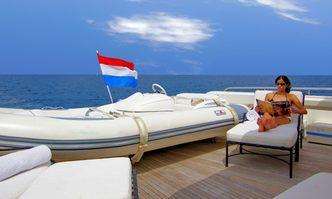 Vintage yacht charter Custom Line Motor Yacht