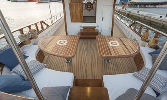 Cosmos yacht charter Custom Sail Yacht