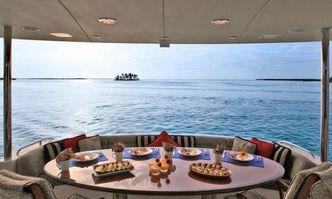 Cedar Island yacht charter Lazzara Motor Yacht
