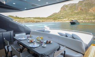 Charm yacht charter Pershing Motor Yacht