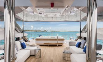 Never Blue yacht charter Custom Line Motor Yacht