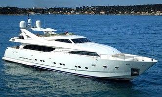 Two Kay yacht charter Custom Line Motor Yacht