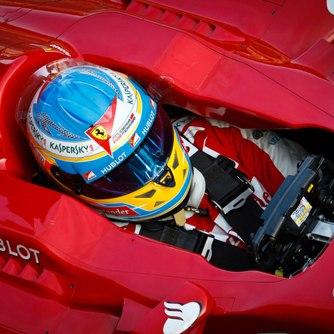 Ferrari F1 Driver in car