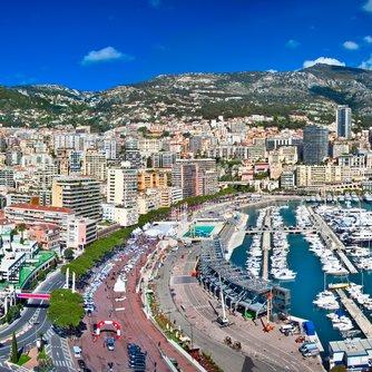 Monaco Grand Prix Charter Yachts in Port Hercule harbour