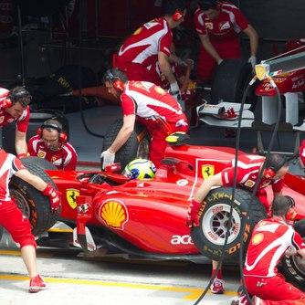 Ferrari F1 pit crew at Monaco Grand Prix