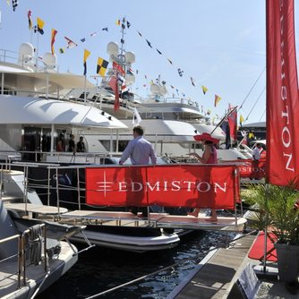 Guest visiting Edmiston yacht at MYS 2012