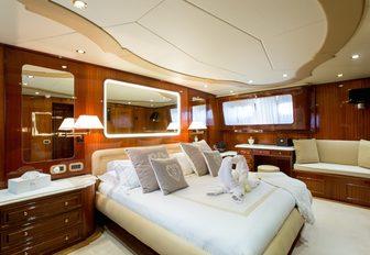 beautiful master suite on board motor yacht LIBERTUS