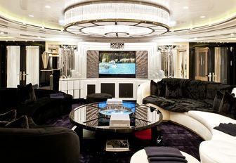 Art Deco style salon on board charter yacht PHOENIX 2