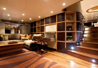 chill out room for movies and TV watching aboard superyacht HEMISPHERE
