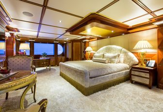 opulent master suite on board luxury yacht My Seanna