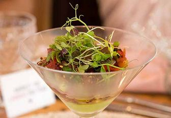 culinary contest dish created by Sebastian Springer of superyacht Harle