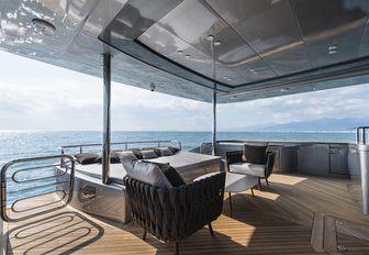 Main deck aft on charter yacht SANDS