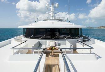 The exterior of Feadship superyacht ELYSIAN