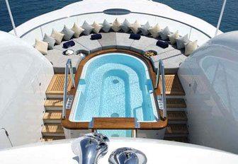 pool on luxury yacht wheels