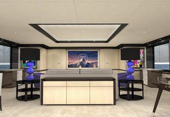 Superyacht PAPA seating area interior