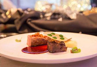 culinary contest dish created by Peter Frost of superyacht ETERNITY