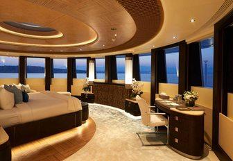 Decadent furnishings on board charter yacht BARBARA