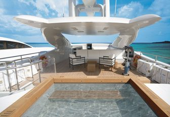 sundeck on charter yacht infinity pacific