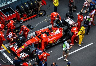 pit stop for red at the Monaco Grand Prix