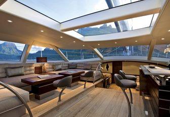 A social area onboard sailing yacht SALPERTON
