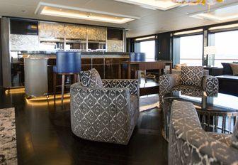 AQUILA yacht main salon with bar