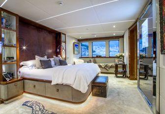 master suite on board luxury yacht ZULU