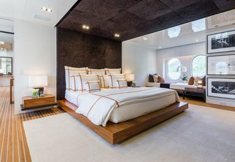 master suite on superyacht chasseur