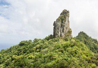 Cross island hike, Te Rua Manga, The Needle. Cook Islands, Rarotonga
