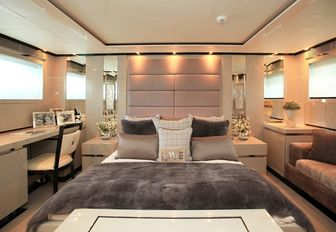 chic master suite aboard charter yacht SEALYON