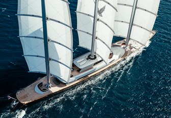 superyacht Maltese falcon cruising the deep and refreshing waters of the Mediterranean