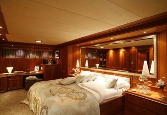 Master suite on luxury yacht DARDANELLA