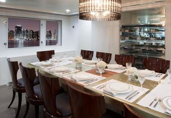 The dining room on-board motor yacht BG