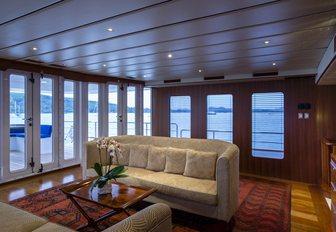 light and airy salon aboard luxury yacht 'Northern Sun'
