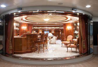 Skylounge on luxury yacht St David