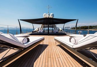 Loungers on the sundeck