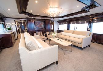 Charter yacht REBEL main salon