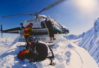 heli-skiing in Chugach Mountains, Alaska