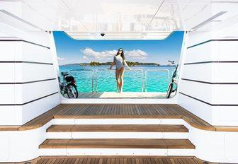 beach club on superyacht my seanna