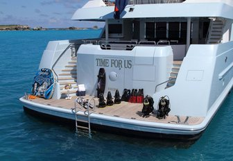 time for us yacht swim platform