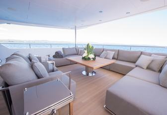 aft deck lounge on aft deck of luxury yacht JACOZAMI