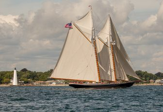 luxury yacht COLUMBIA prepares for the Antigua Classic Yacht Regatta 2017