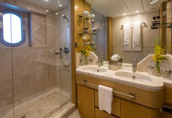 Shower and sink on Superyacht BACA