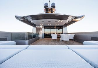 master suite's private terrace on board charter yacht 'Silver Fast'