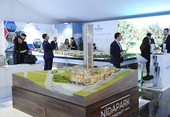 Model city at MIPIM conference in the South of France