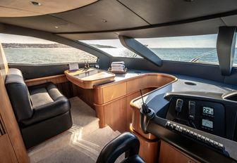 cockpit are on luxury sunseeker charter yacht